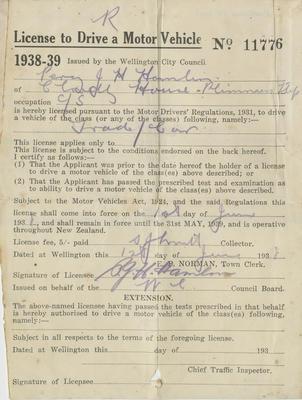 Driver's License, Percy Hamlin