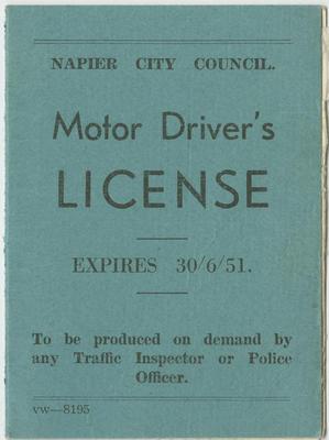 Driver's License, Cecil Augustus Eba Hamlin