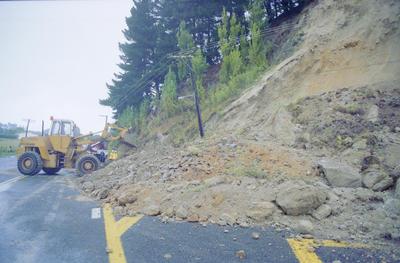 Slip blocks Napier- Wairoa Road