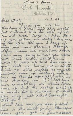 Letter, Eileen to Molly Hamlin