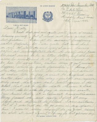 Letter, Henry Hamlin to his sister Molly