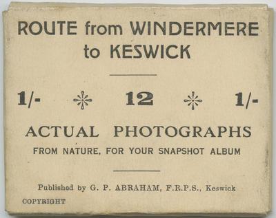 Souvenir Photographs, Windermere to Keswick