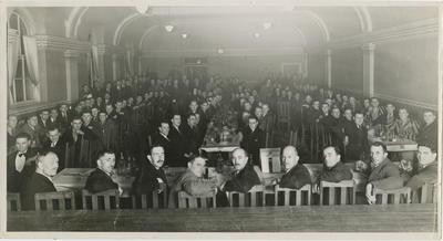 Men in dining hall
