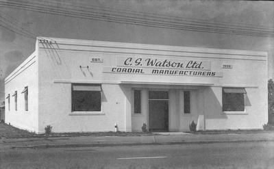 C G Watson Cordial Manufacturers