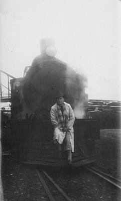 Clarence Watson and steam engine