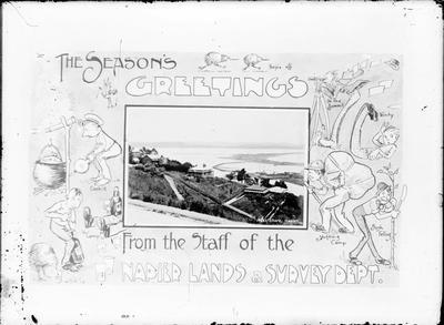Napier Lands and Survey Department Christmas card