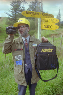 Brother Michael with Video Camera, Hawke's Bay