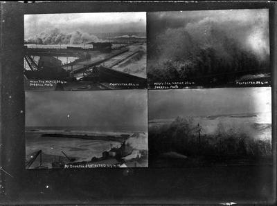 Four scenes, heavy seas