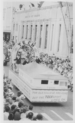 Hawke's Bay Centennial parade, Napier Tech float