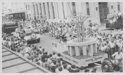 Hawke's Bay Centennial parade, Master Builders' Association float