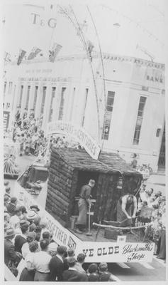 Hawke's Bay Centennial parade, welding float