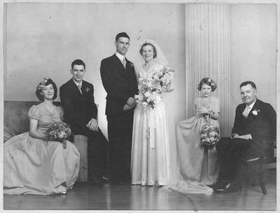 Wedding of Leonard Hyde and Norma Grange