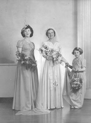 Norma Grange and bridal attendants