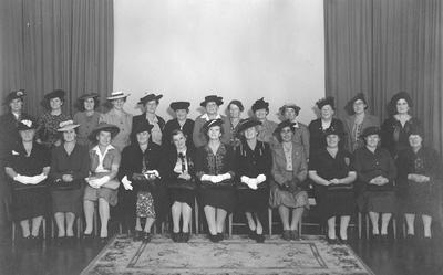 Group portrait including Ada Grange