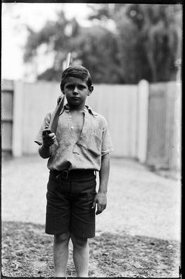 Young lad with rifle
