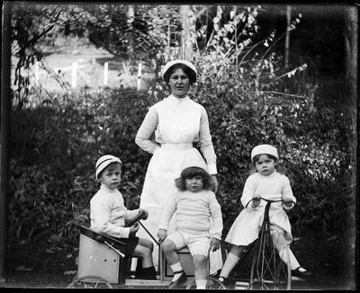 Nursemaid and children