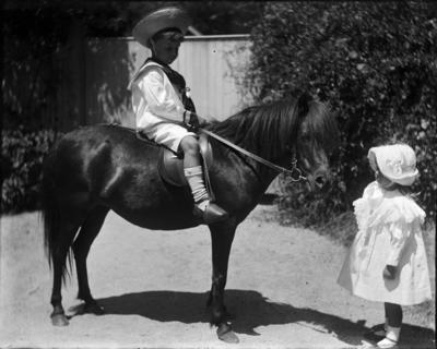Children and pony