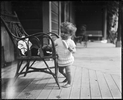Toddler with hairbrush