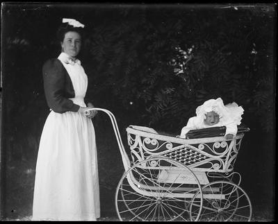Nursemaid with infant