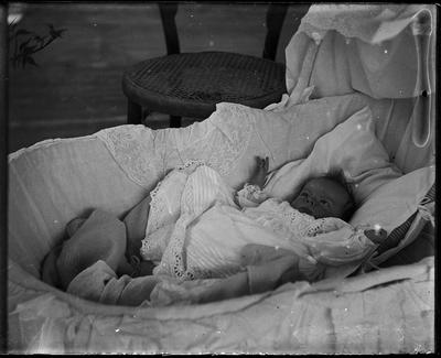 Infant in bassinet