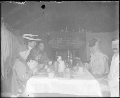 Group seated at table