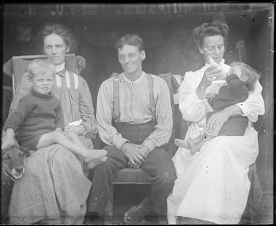 Seated group with children