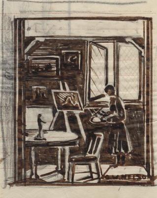 Untitled - female painter