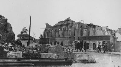 Earthquake damage, Masonic Hotel