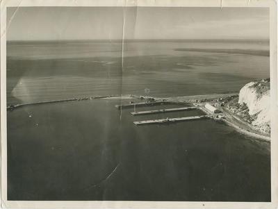 Aerial view of Napier breakwater