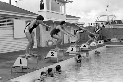 Swimming race at Heretaunga Swimming Club