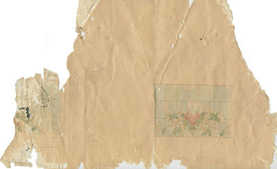 Architectural drawing (fragment), leadlight window