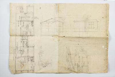 Architectural plan, Top office, Herschell St, Napier