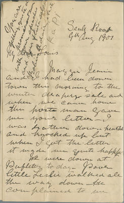 Letter, Frances Hay to Louis Hay