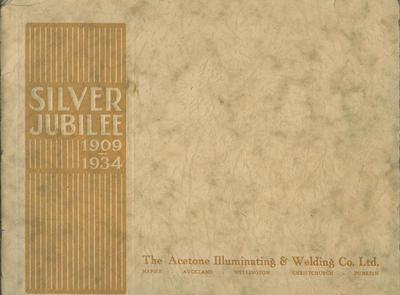 Booklet, Acetone Illuminating & Welding Co Silver Jubilee 1909-1934