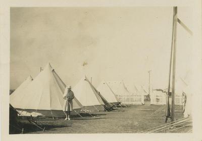 Hospital tents at Napier Park Racecourse