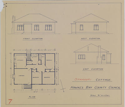 Plan, Otamauri cottage