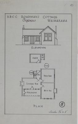 Plan, Roadman's cottage, Waimarama