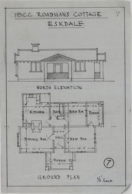 Plan, Roadman's cottage, Eskdale