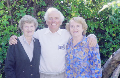 Ahuriri's Ted Brigham and his two sisters