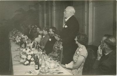 Morris Spence at wedding breakfast