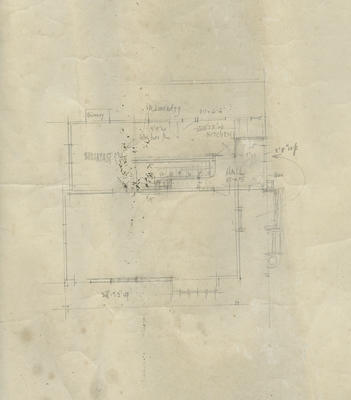 Architectural drawing, unidentified house