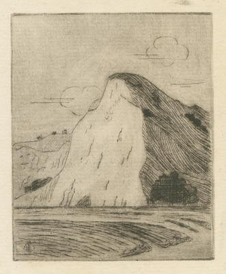 Untitled - eroded cliff and sea