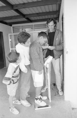 From left: Wade Bartlett,  Richard Bartlett and Alex Morris and Tech schoolboys' rugby convenor Gary Hosegood