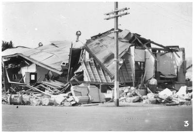 Earthquake damage, Russell Street, Hastings
