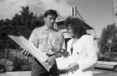 Howie Tamati, pictured with Tania Stapp