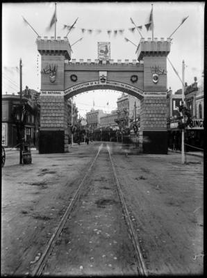The National Dairy Association's Arch, Lambton Quay, Wellington