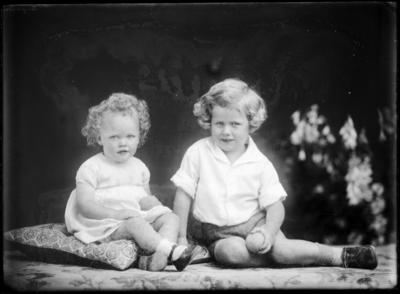 Two young children