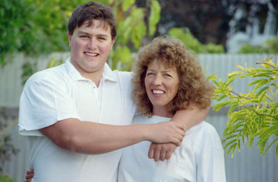 Shannon Barwood with his mother Lynda