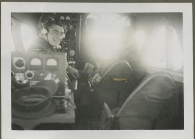 Percy Hamlin in RNZAF aircraft