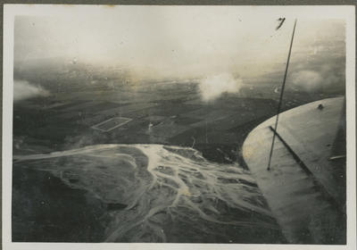 Aerial view of land and river from RNZAF aircraft